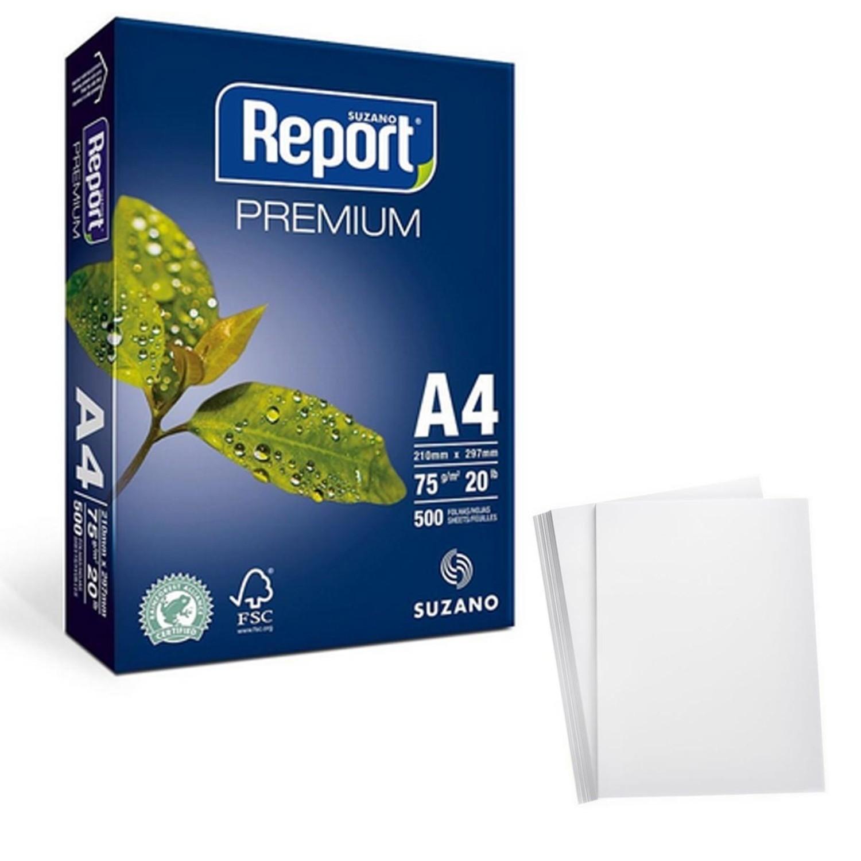Papel Sulfite Report A4 75g Branco 1000 Folhas