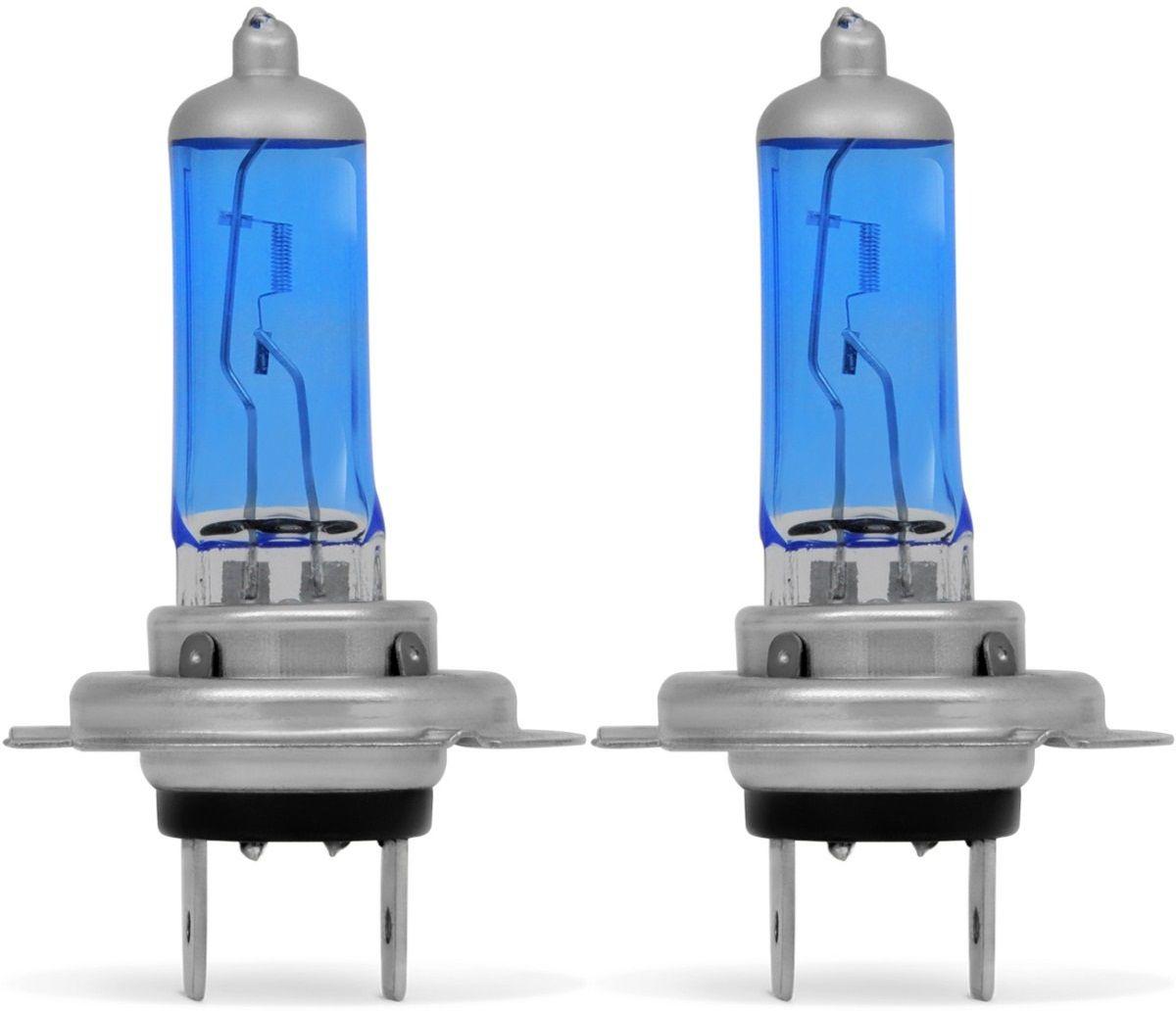 Par Lampada H7 Super Branca 12v 55w Xenon Similar A Philips