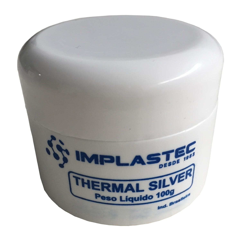 Pasta Termica Prata Cinza Thermal Silver Implastec 100g Processador