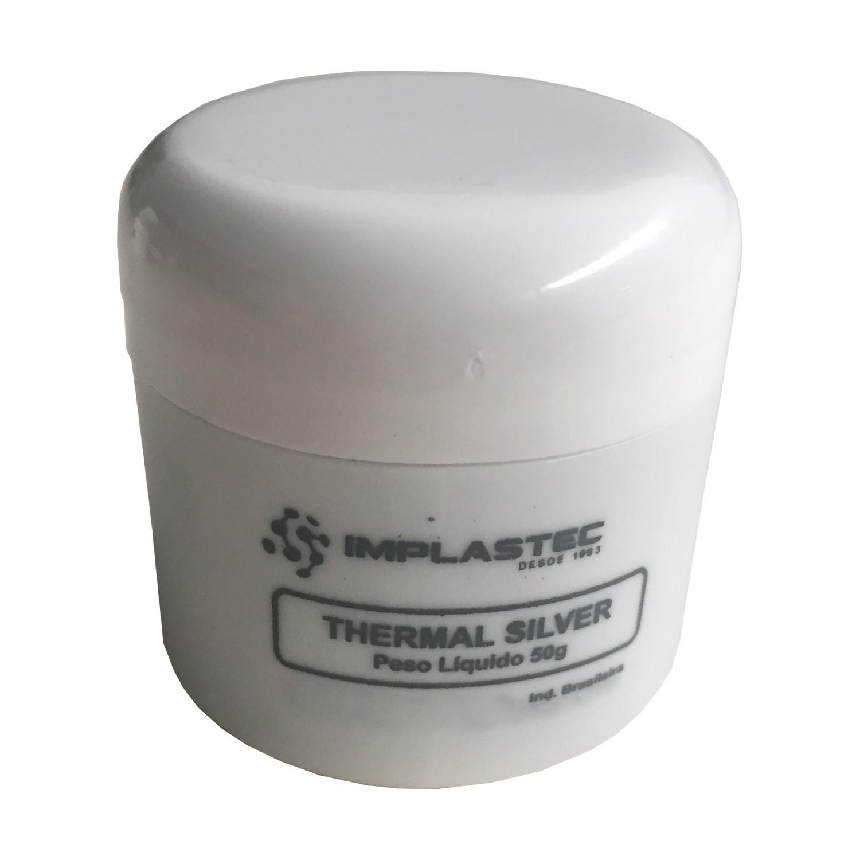 Pasta Térmica Thermal Silver Implastec Pote 50g Prata Cpu
