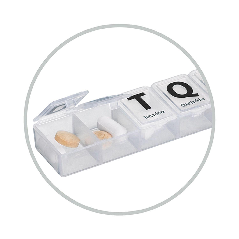 Porta Comprimidos Organizador Semanal 7 Divisórias Diário