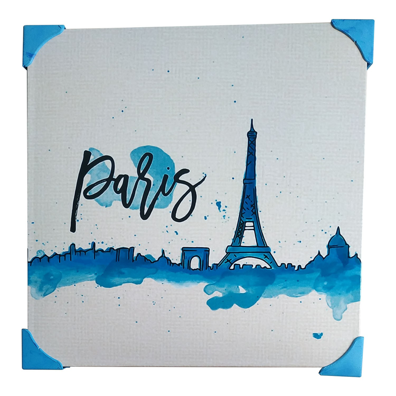 Quadro De Metal Placa Decorativa Metalizada 20cm x 20cm - Paris 2