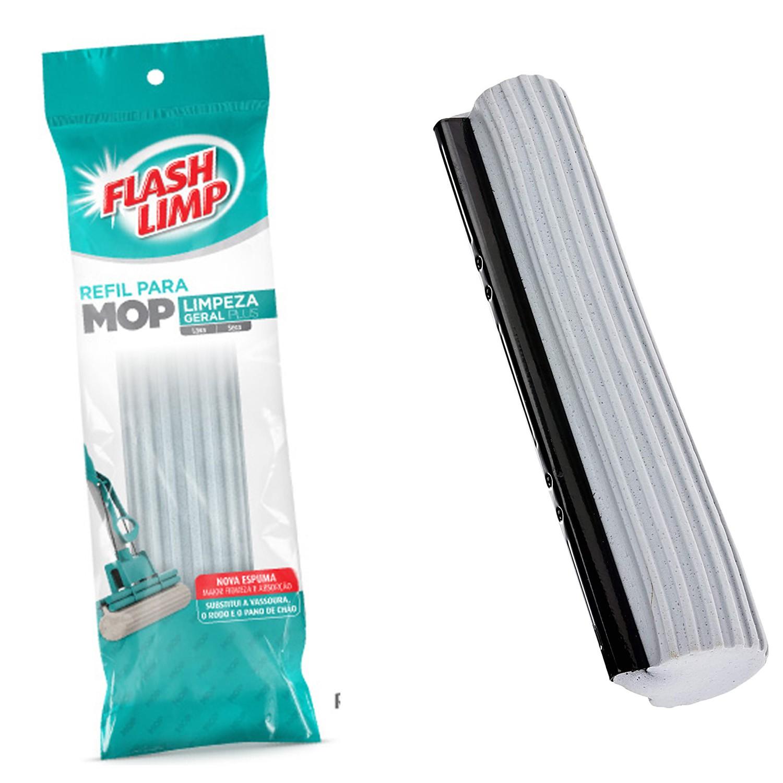 Refil Para Mop Limpeza Geral Plus Rodo Mágico Esponja Espuma 7671