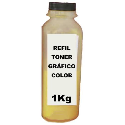 Refil Toner Hp 125a Cb542a Cp1215 Cp1515 Amarelo Quilo Kilo