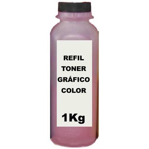 Refil Toner Hp 125a Cb543a Cp1215 Cp1515 Magenta Quilo Kilo