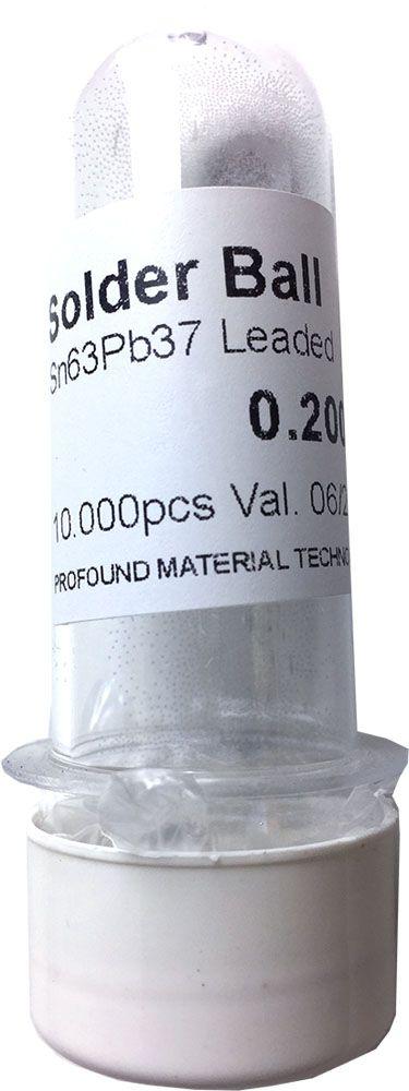 Solda Esfera Bga Pote x 10k 10.000 - 0.20mm (Com Chumbo)