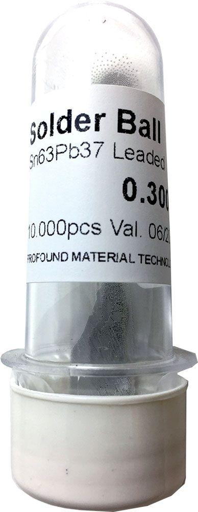 Solda Esfera Bga Pote x 10k 10.000 - 0.30mm (Com Chumbo)