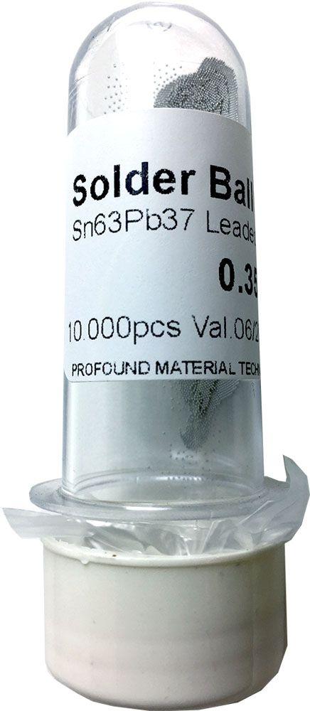 Solda Esfera Bga Pote x 10k 10.000 - 0.35mm (Com Chumbo)