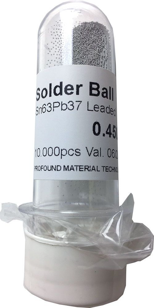 Solda Esfera Bga Pote x 10k 10.000 - 0.45mm (Com Chumbo)