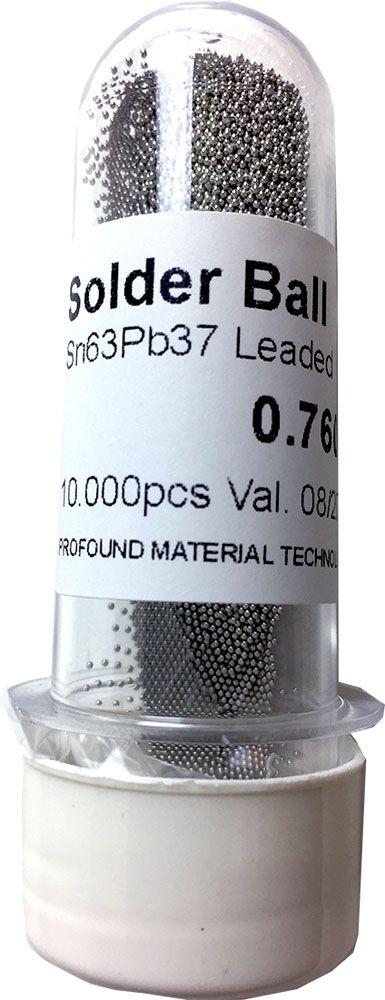 Solda Esfera Bga Pote x 10k 10.000 - 0.76mm (Com Chumbo)