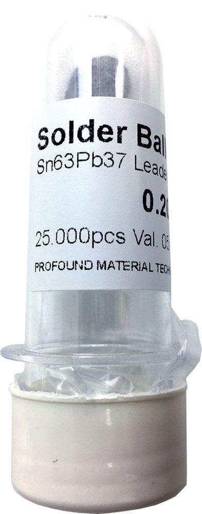 Solda Esfera Bga Pote x 25k 25.000 - 0.20mm (Com Chumbo)