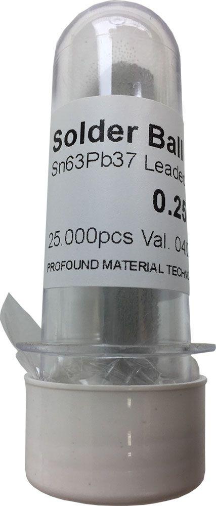 Solda Esfera Bga Pote x 25k 25.000 - 0.25mm (Com Chumbo)