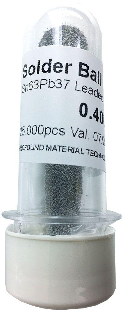 Solda Esfera Bga Pote x 25k 25.000 - 0.40mm (Com Chumbo)