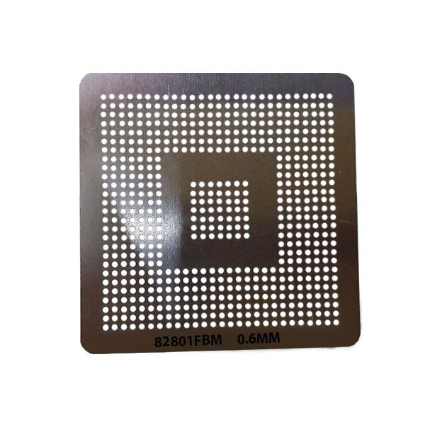 Stencil Intel 82801fbm Bga Calor Direto Reballing