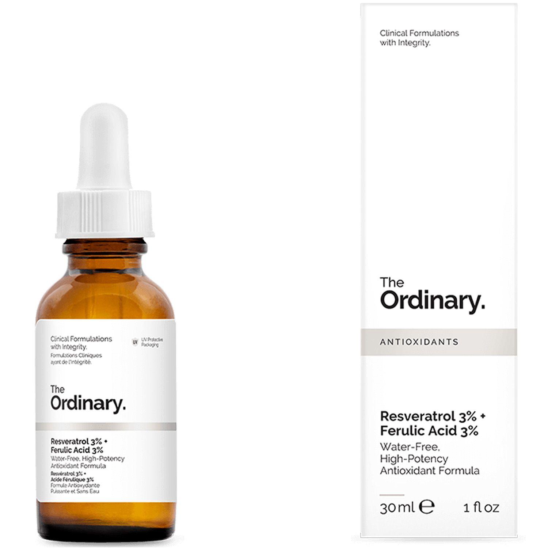 The Ordinary Resveratrol 3% + Ferulic Acid 3% 30ml Ácido Ferúlico Importado