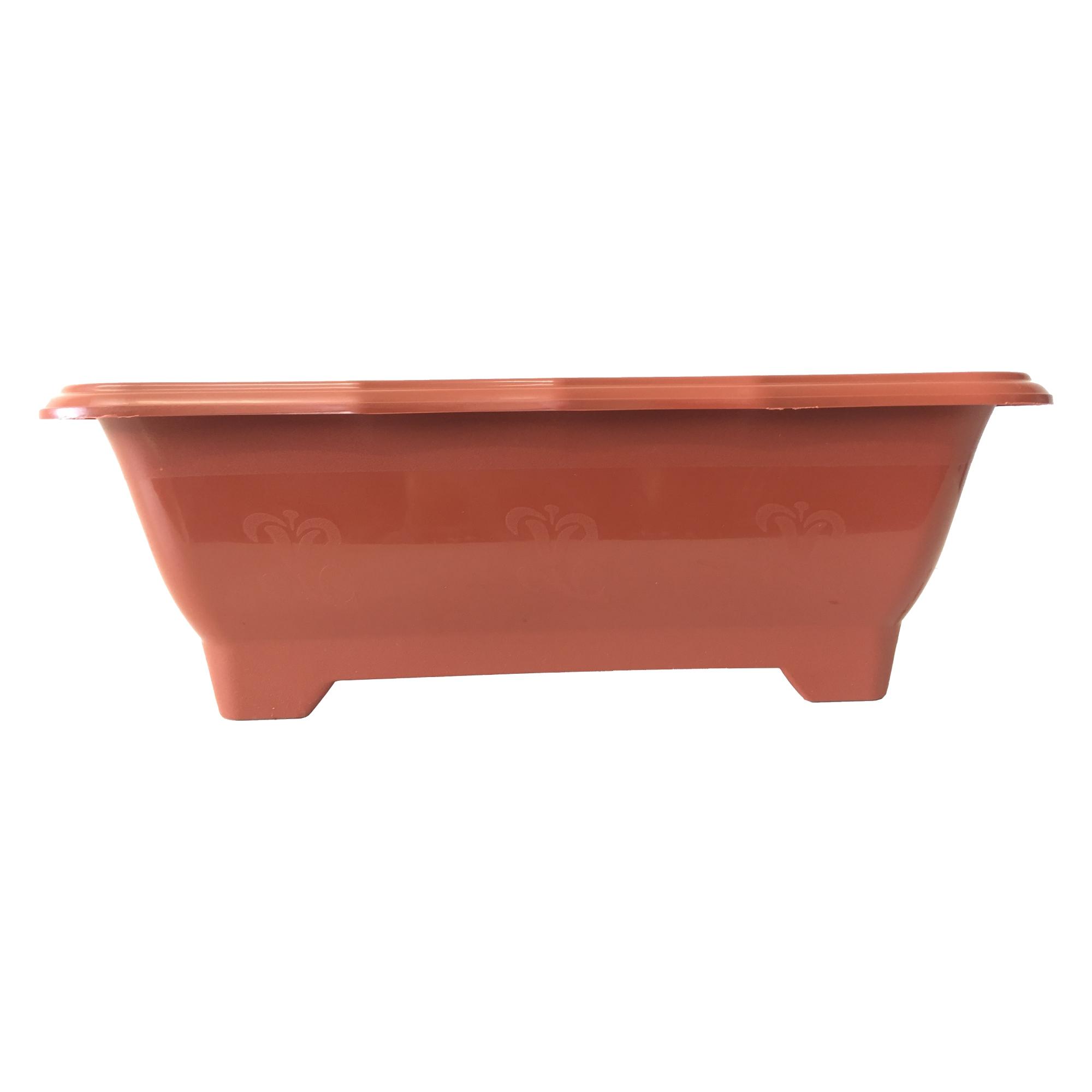 Vaso Jardineira Floreira Arqplast Terracota Média 37,5x17,5x14cm - 25300