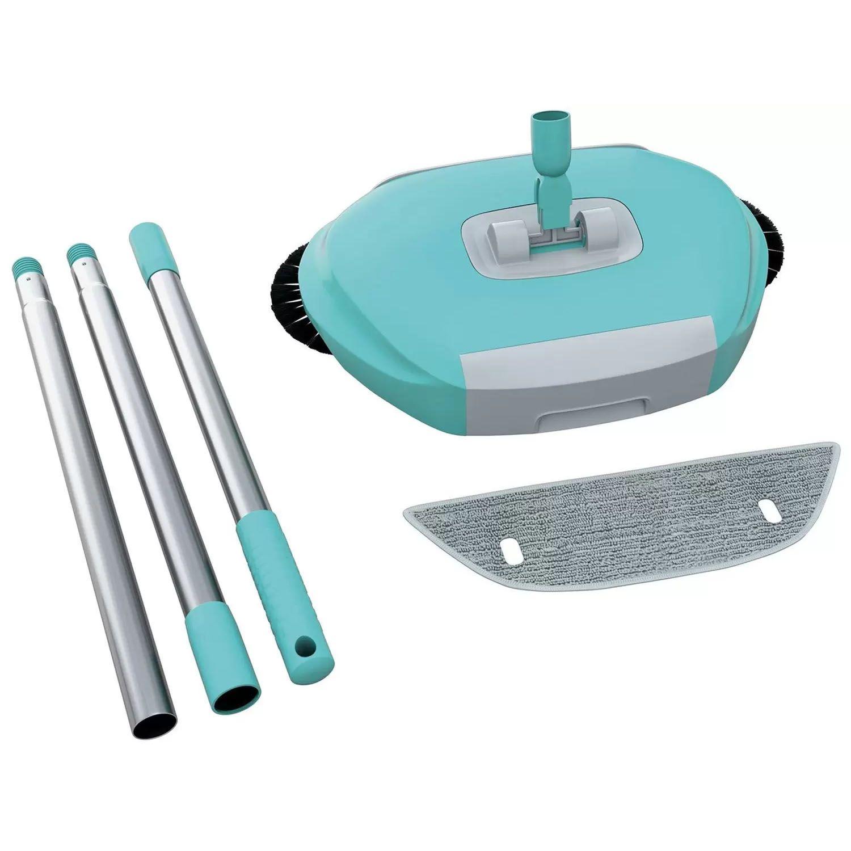 Vassoura Mágica Cerdas Giratórias Pano Microfibra Cabo Aço - 0184