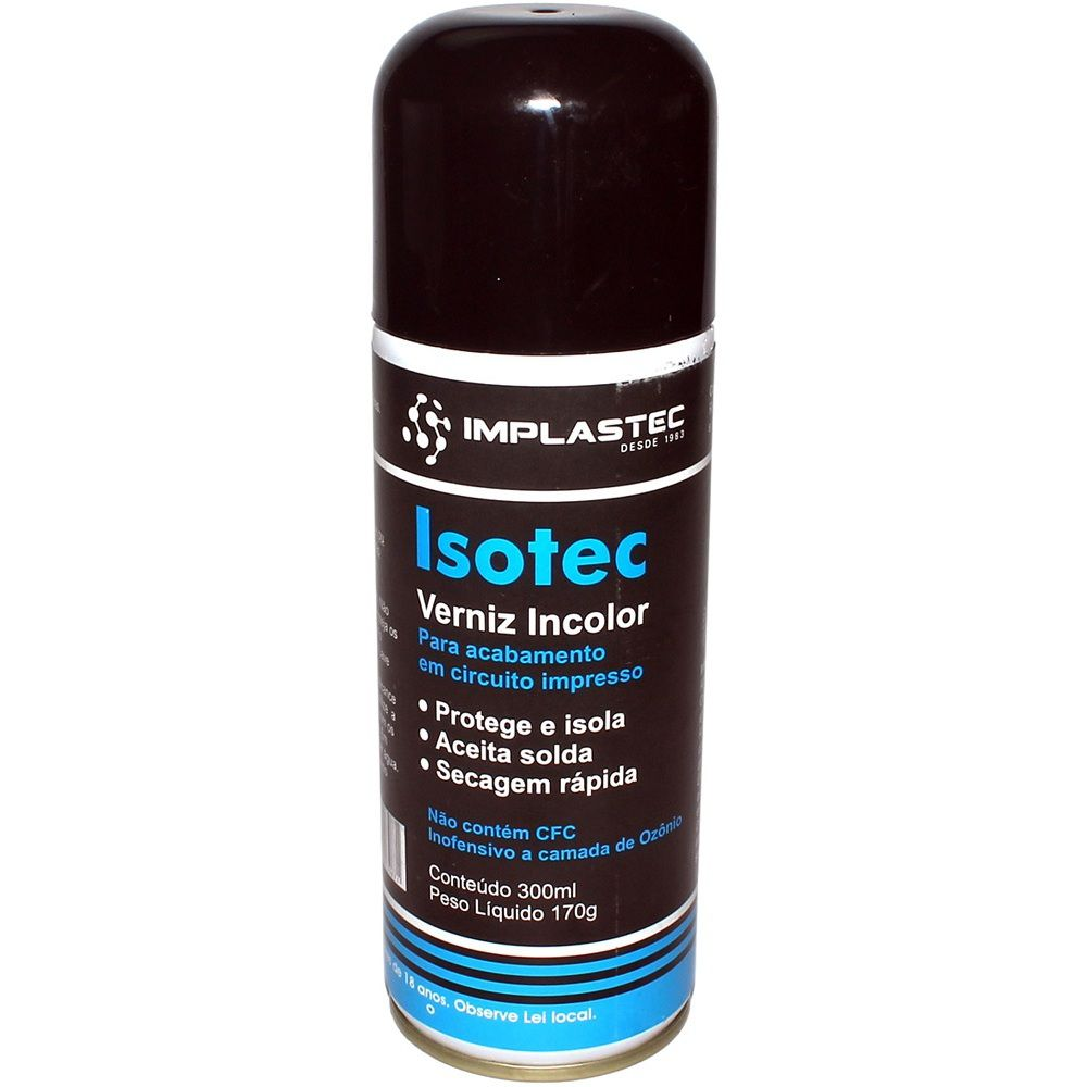 Verniz Isotec Incolor Implastec Aerosol Isolante Spray Bga