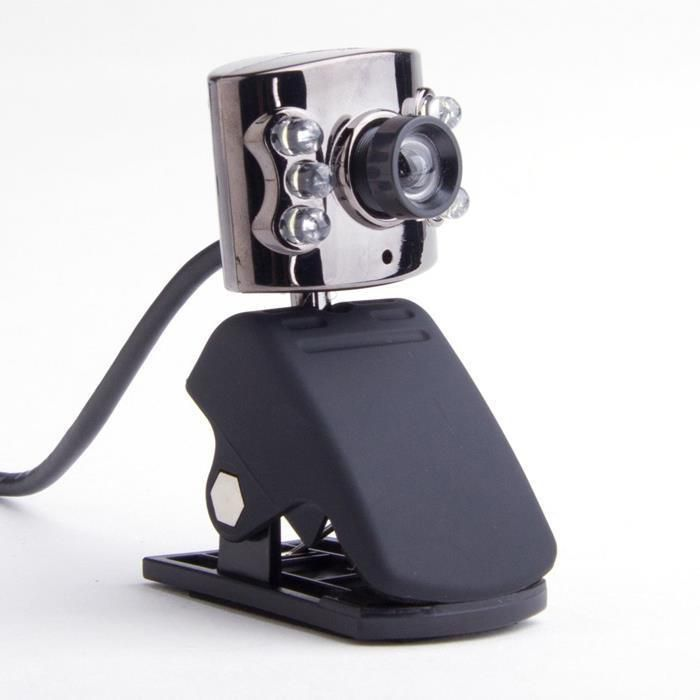 Webcam Metal Com Leds Clip Lcd Microfone Metalica