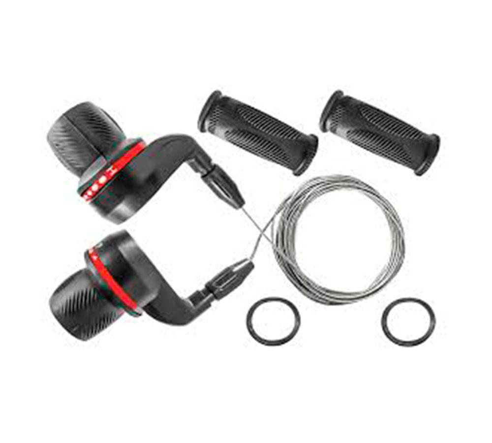 Alavanca de Câmbio Yamada Grip-Shift c/cabos 3x6V