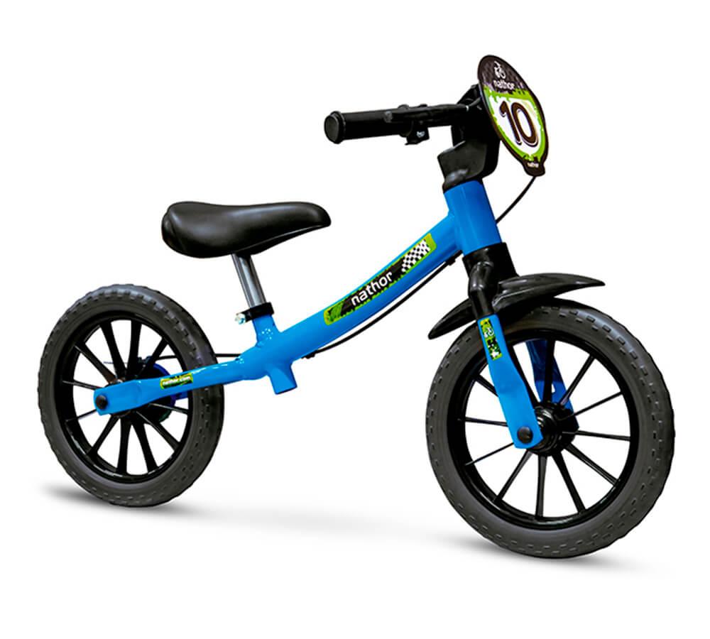 Bicicleta Balance Bike Nathor Masculina Azul