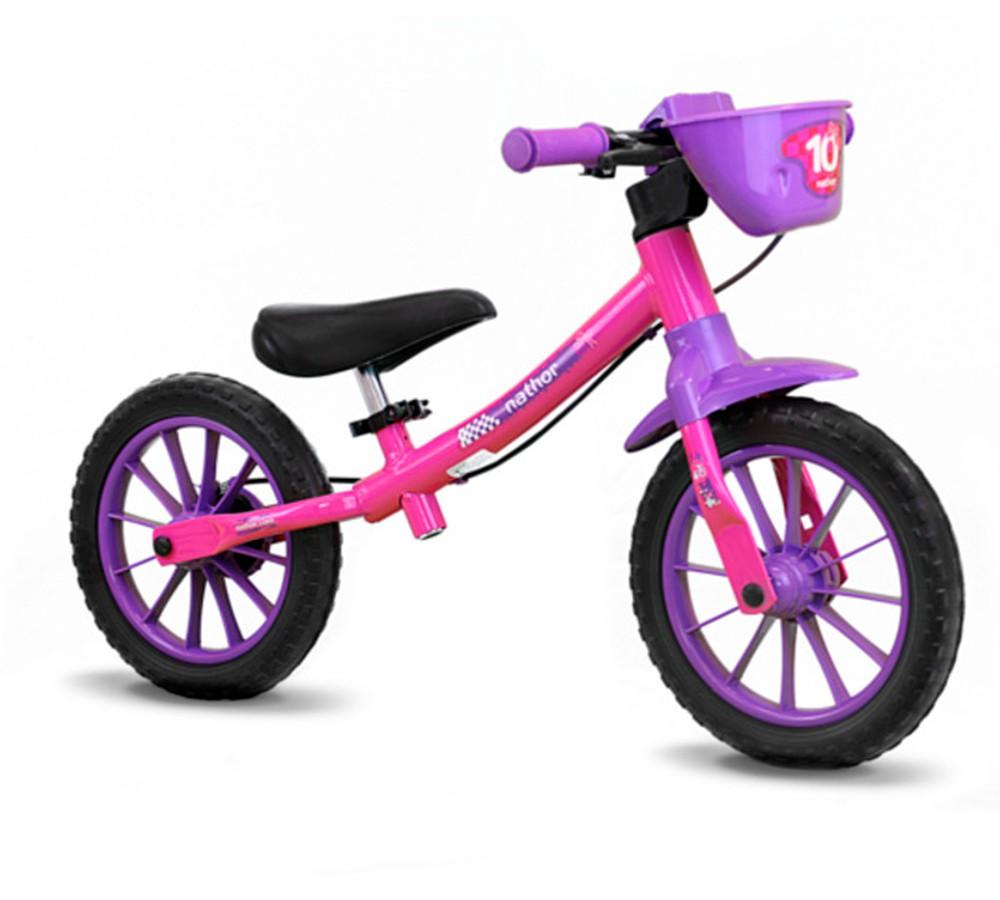 Bicicleta Nathor Balance Bike 12 Feminina