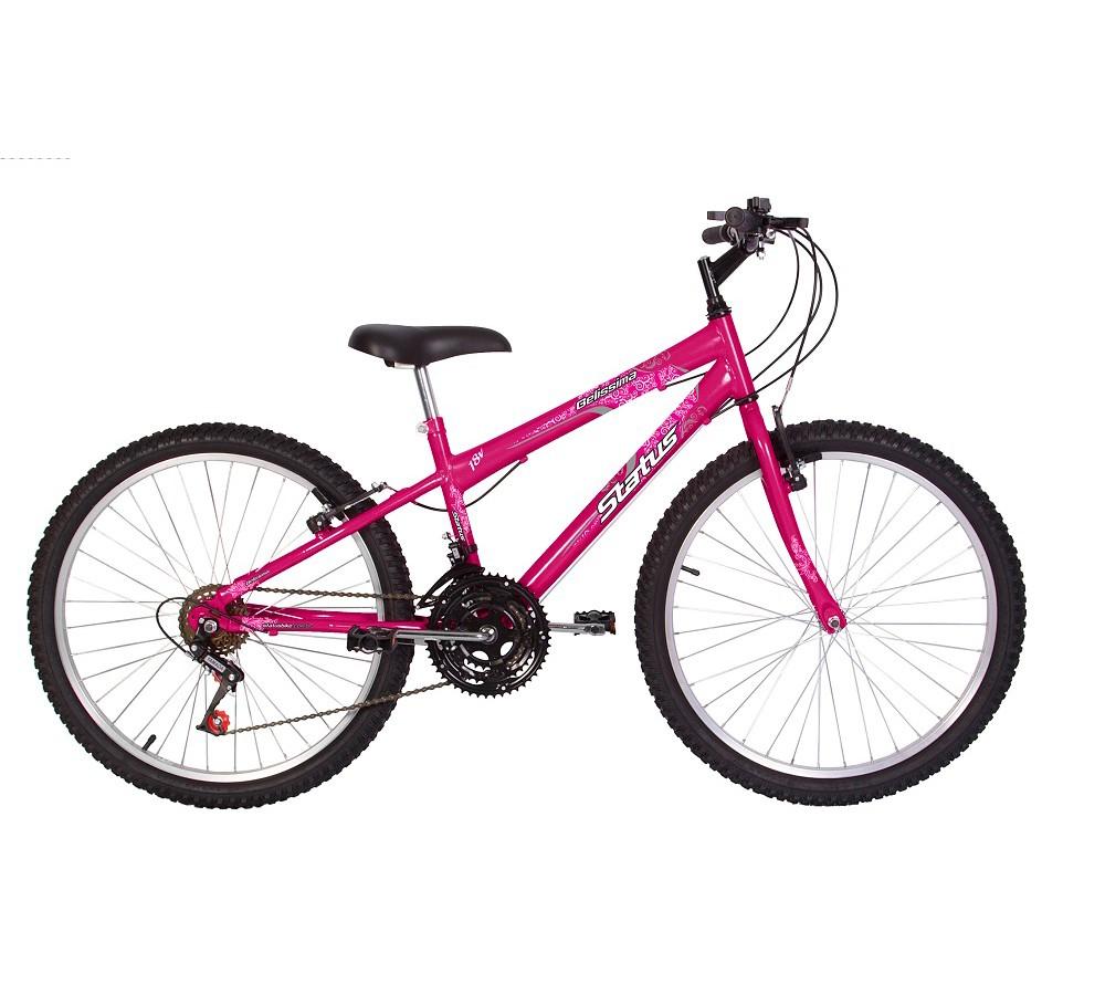 Bicicleta Status Belissima Aro 24 Feminina 18 Marchas