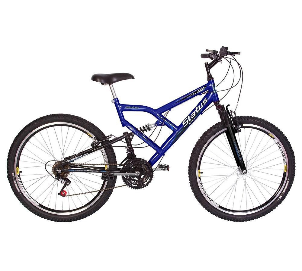 Bicicleta Status Suspensão Full Aro 26 Freio V-Brake