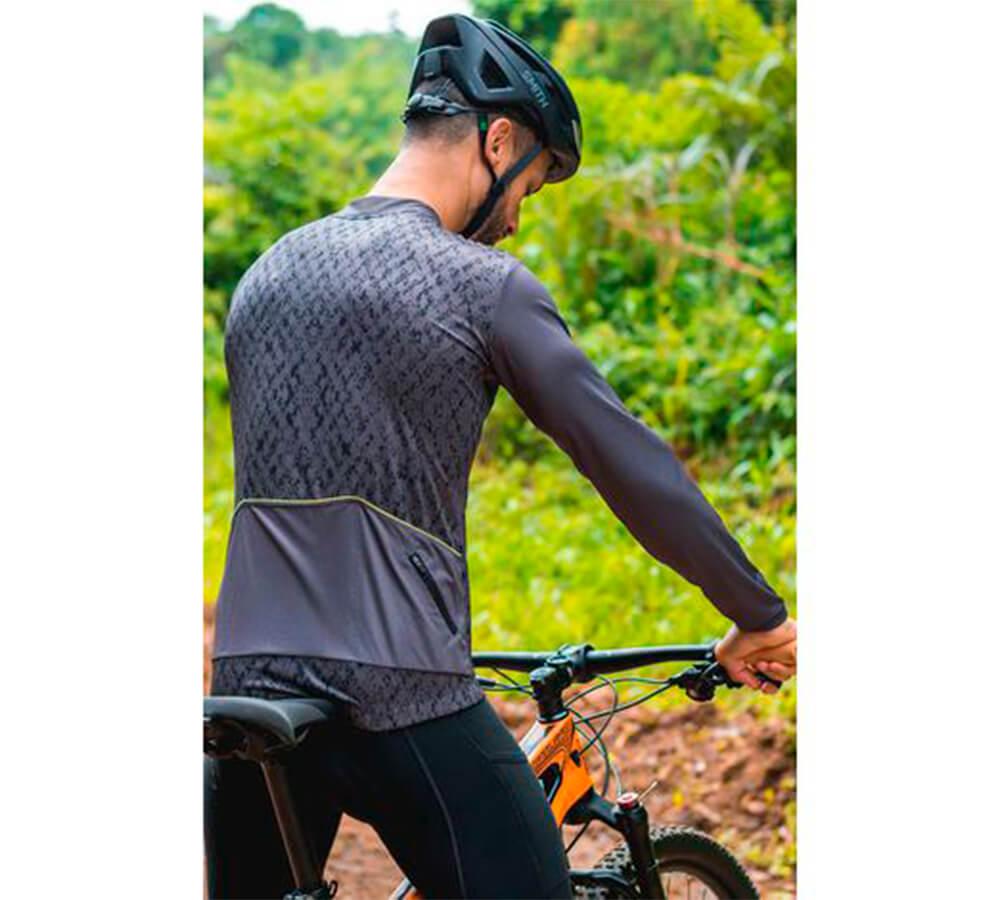 Camisa Ciclismo Free Force Classic Ashen Manga Longa