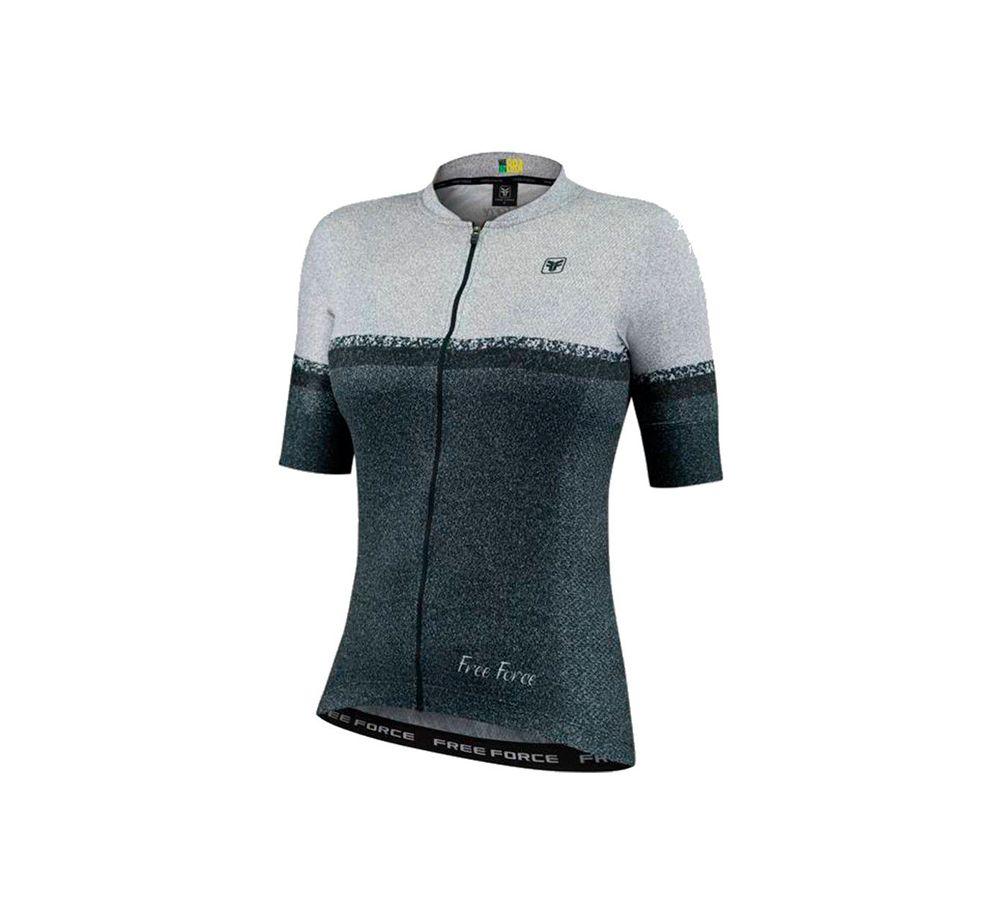 Camisa Feminina Ciclismo Free Force Sport Grain Black