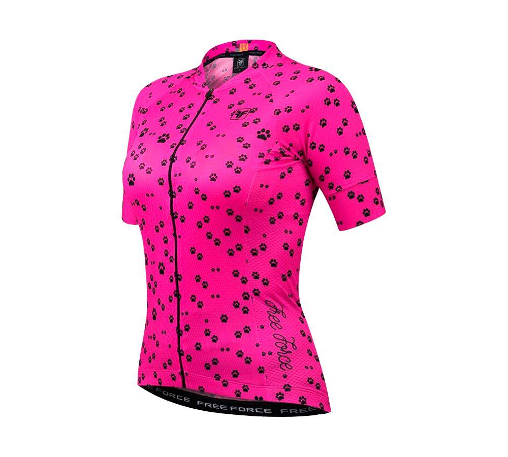 Camisa Feminina Ciclismo Free Force Sports Feets