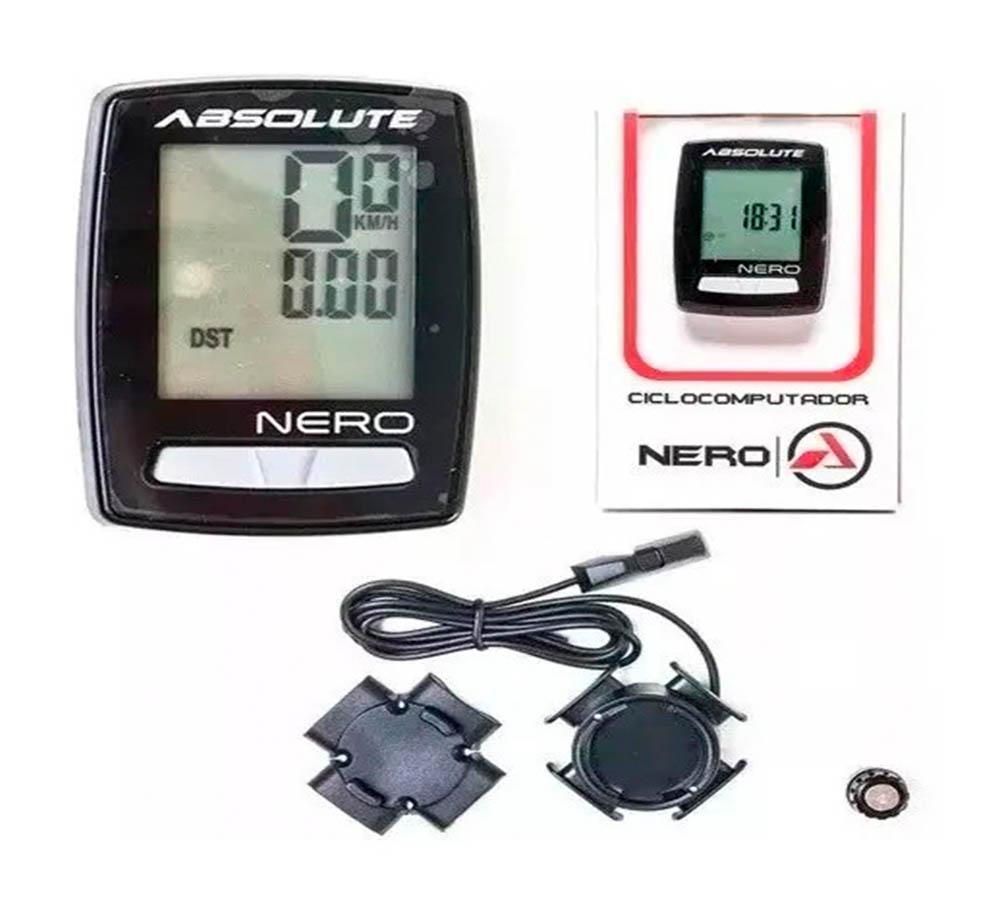 Ciclocomputador Absolute Nero 10 Funções Com Fio p/ Bike