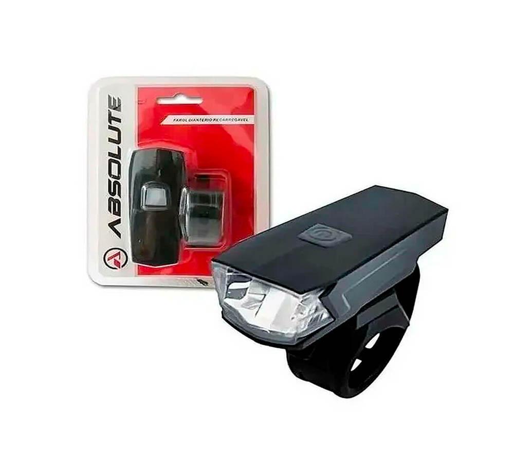 Farol Absolute Bike JY-7059 1 Led Recarregável USB