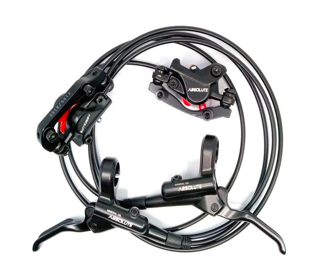 Freio a Disco Hidráulico Absolute Bike DXU-16 C/ Discos