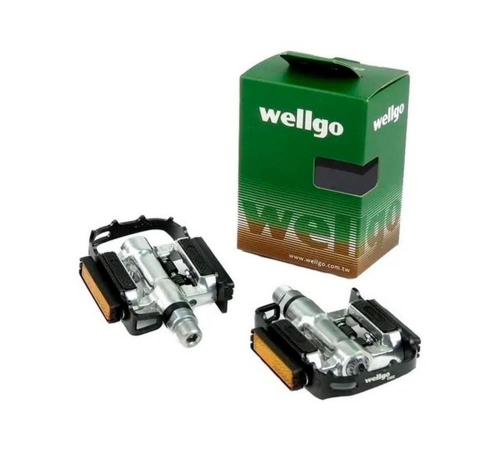 Pedal Wellgo C2 MTB Clip Com Plataforma 9/16 Alum.
