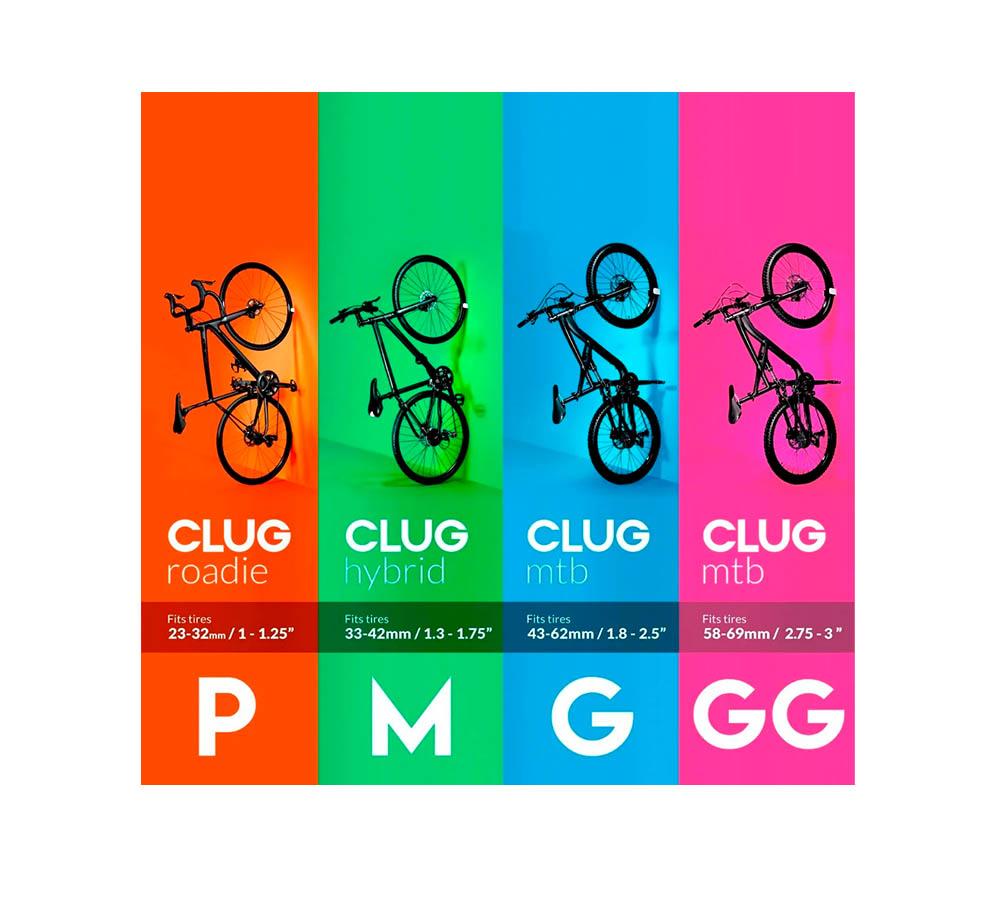 Suporte de Parede p/ Bicicleta Híbrida Hornit Clug 33-43mm