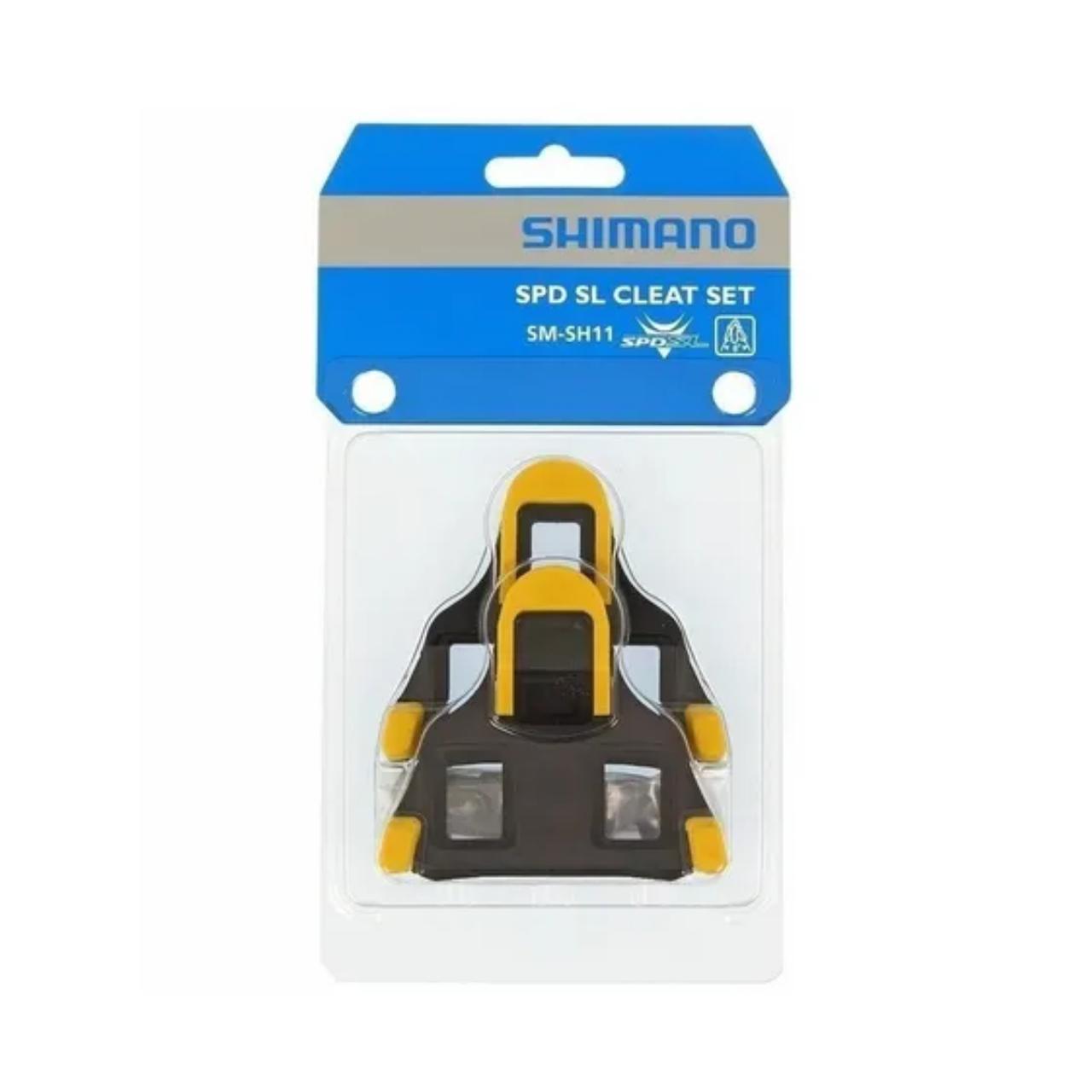 Taquinho Sapatilha Shimano Speed SM-SH11 Amarelo Par