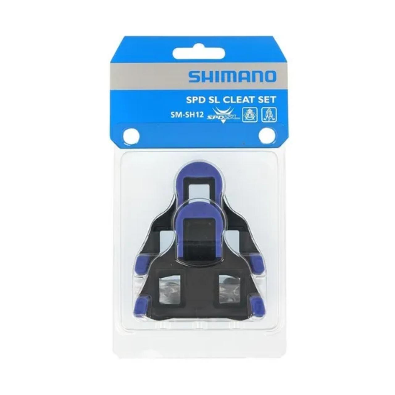 Taquinho Sapatilha Shimano Speed SM-SH12 Azul Par