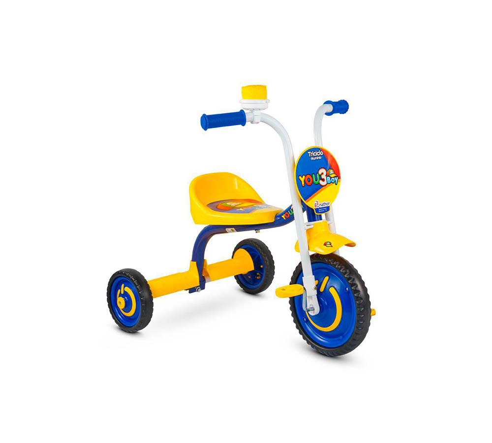 Triciclo Nathor Infantil You 3 Boy Alumínio