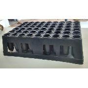 54 Tubetes Para Produção De Mudas 230 Cm³ - Kit Com A Bandeja Inclusa