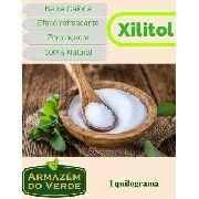 Combo Com 1kg De Adoçante Xilitol + 2kg Farinha De Amendoas Natural Sem Pele Produto Importado A Granel
