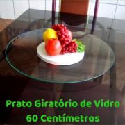 Prato Giratório 60 centímetros em  Vidro Temperado.