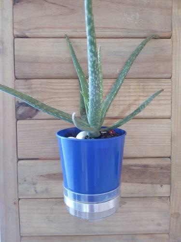 Kit Com 30 Unidades De Suporte Em Aluminio Natural Para Vaso  De 11 centimetros de diâmetro