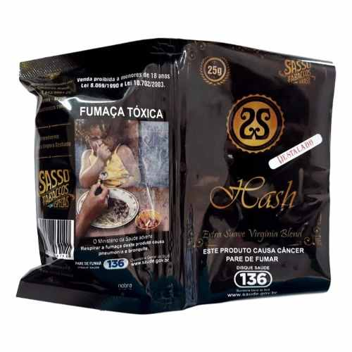 Tabaco Natural Sasso Hash 25g (2 Unidades)