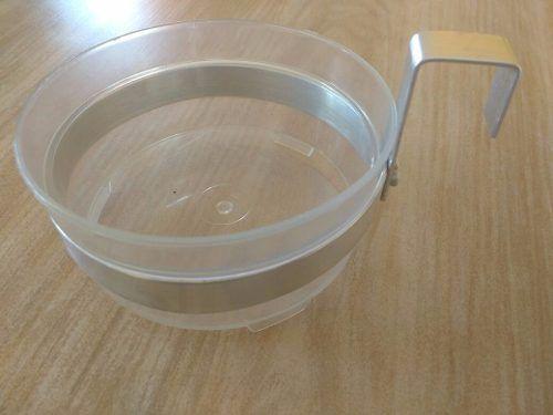 Kit Com Suportes Em Alumínio Natural Para Vaso 10 Unidades de 10 cm e 30 Unidades de 15 cm
