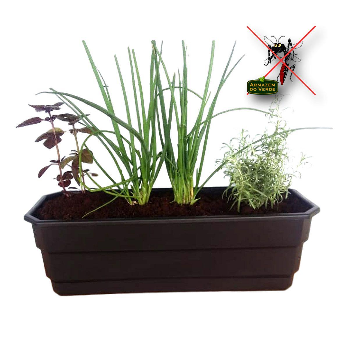 Vaso auto irrigável Jardineira Floreira Anti-Dengue  40 cm