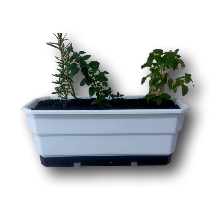 Jardineira Floreira Anti-Dengue  40 cm Com Suporte Em Alumínio Incluso 11 un