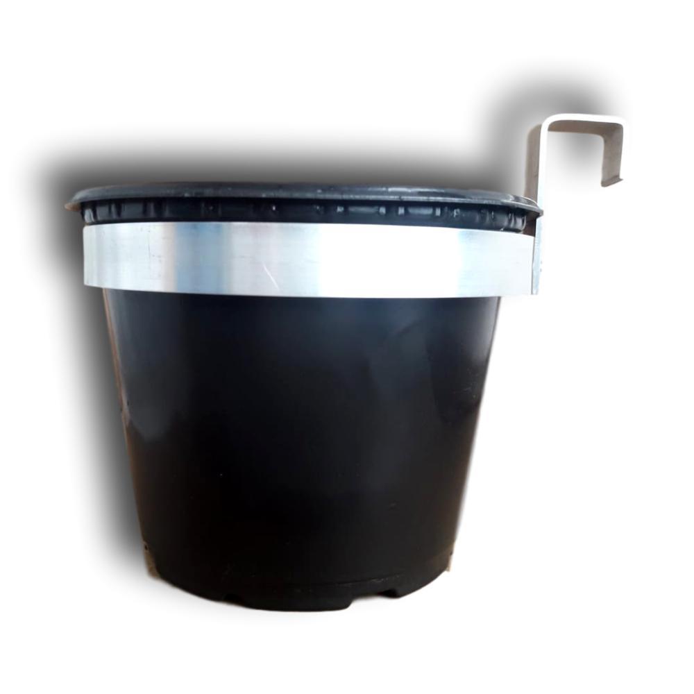 Suporte para vaso 10 centímetros de diâmetro em alumínio natural  - Kit com 10 unidades