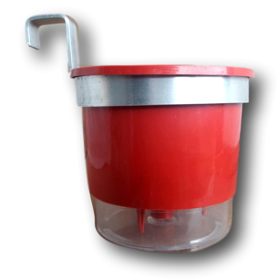 Suporte Em Alumínio Natural Para Vaso Auto Irrigável Ou Vaso Comum 11 Centímetros de Diâmetro Kit Com 24 Unidades
