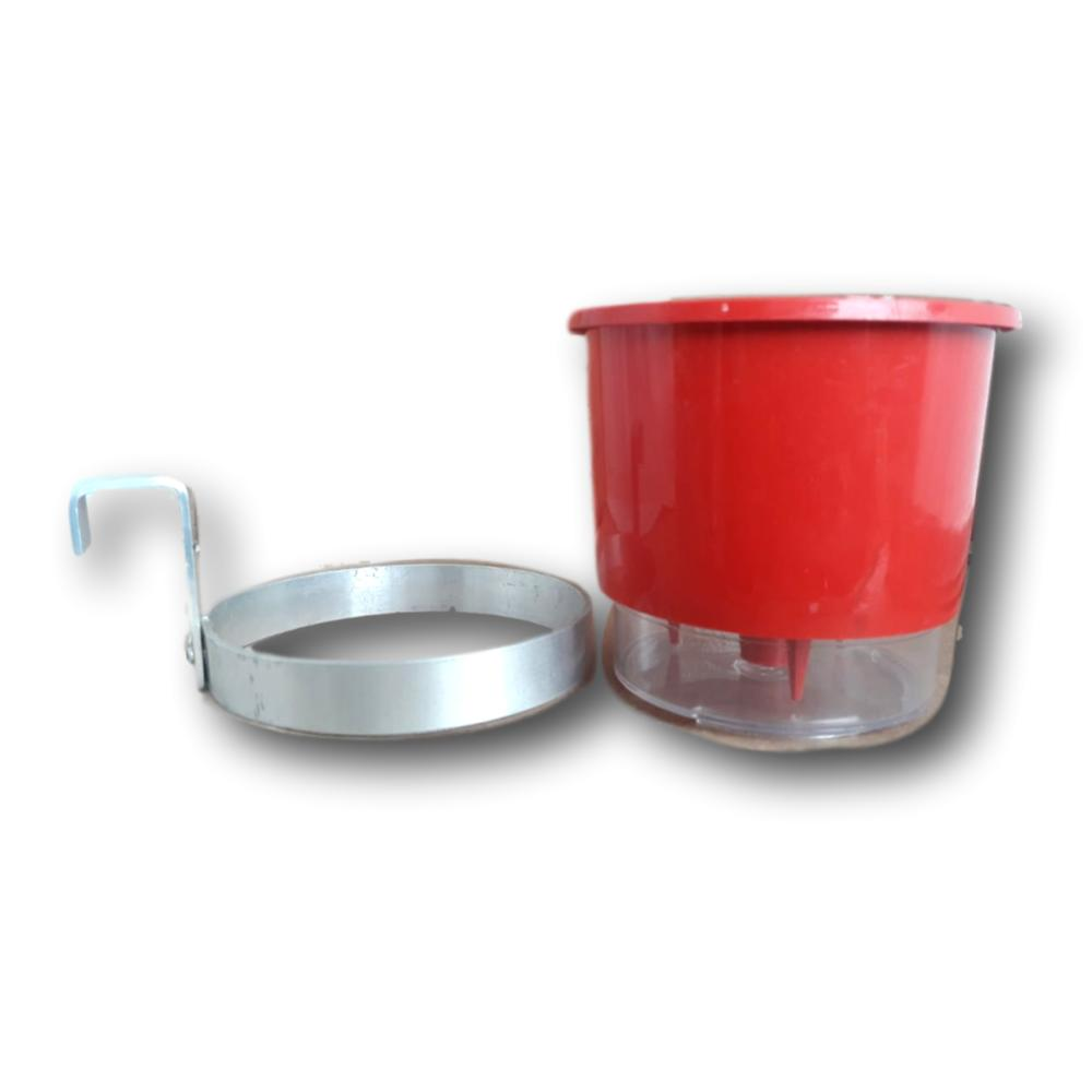 Suporte para Vaso Auto Irrigável Raíz Nº 1 Em Aluminio Natural - Kit Com 10 unidades